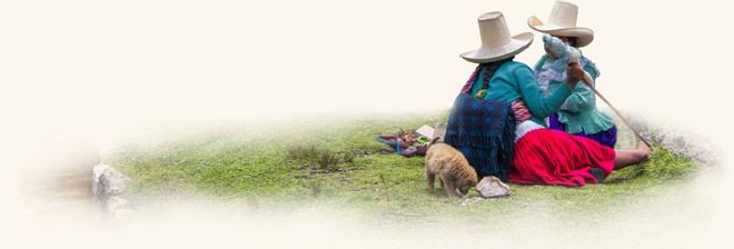 Peruanische Frauen bei der Rast